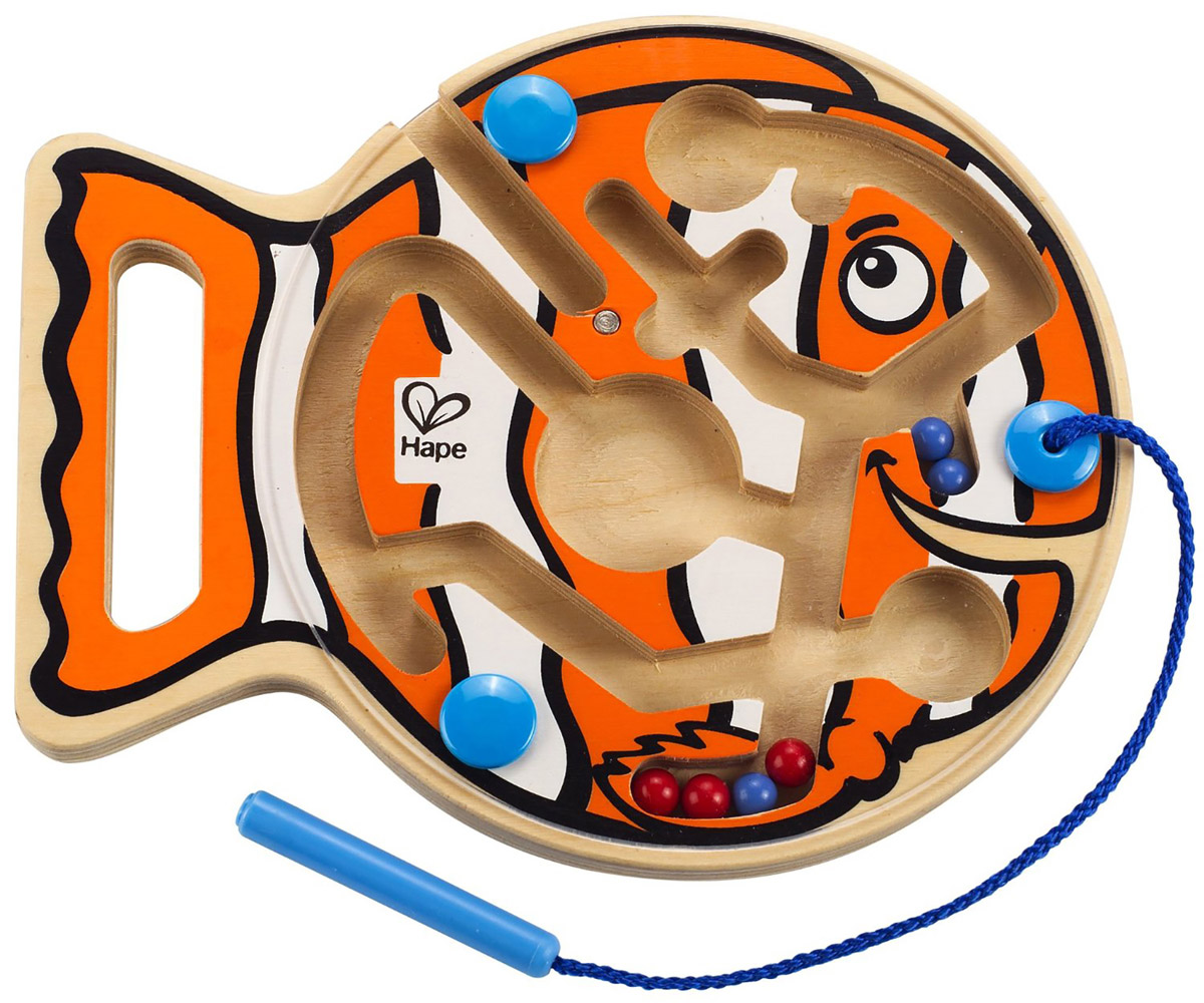 Hape Развивающая игрушка Рыбка-лабиринт зеркальный лабиринт выход есть всегда