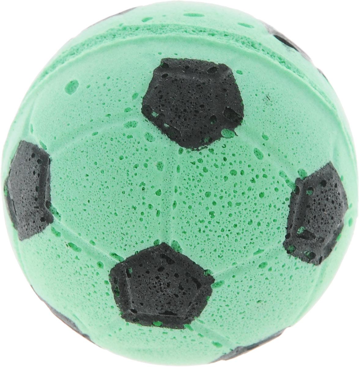 Игрушка для животных Каскад Мячик зефирный. Футбольный, цвет: зеленый, диаметр 4,5 см мягкая игрушка dragons крушиголов цвет зеленый бордовый 24 см