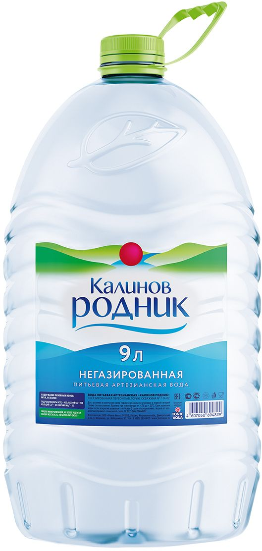 Калинов Родник питьевая артезианская негазированная вода, 9 л fiji вода минеральная артезианская негазированная 1 л