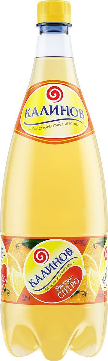 Калинов Лимонад Ситро, 1,5 л калинов лимонад буратино 12 шт по 0 5 л