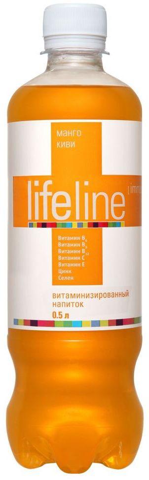Lifeline Immunity манго, киви, 0,5 л4607050695284Lifeline - функциональные витаминные напитки, созданные для людей, которые заботятся о своем здоровье и хотят, чтобы их жизнь была яркой, насыщенной и интересной. Витаминные комплексы, входящие в состав напитка, помогут устранить дефицит витаминов в организме, а разнообразие вкусов и свойств позволит каждому выбрать напиток себе по душе. Напитки Lifeline - удовольствие и польза в одной бутылке!Сколько нужно пить воды: мнение диетолога. Статья OZON Гид