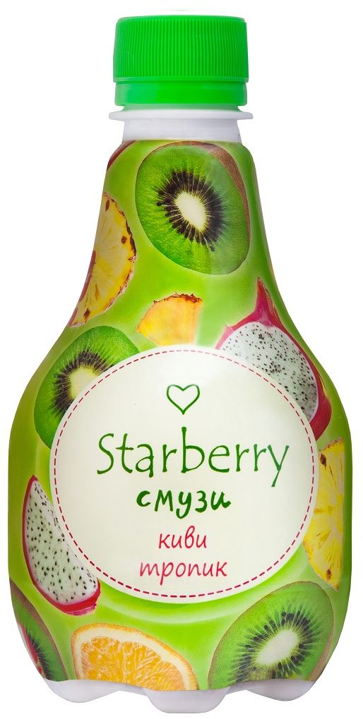 Starberry смузи киви, тропик, 0,375 л помада лакомка апельсиновый смузи 2 8гй смузи 2 8г