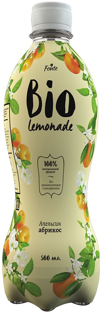 Fonte Bio Lemonade Апельсин-Абрикос, 0,5 л жидкость zap lychee lemonade 0мг 20мл