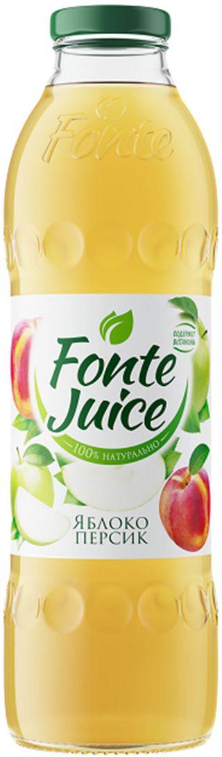 Fonte juice Нектар яблоко, персик, 0,75 л4607050696601Сочный вкус и свежий аромат спелых зеленых яблок напоминают о раннем летнем утре, а легкие персиковые нотки дарят сладкое послевкусие, смягчая яблочную прохладу. Источник твоей легкости!