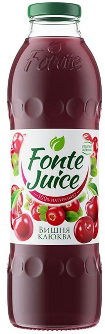 Fonte juice Нектар вишня, клюква, 0,75 л4607050696663Сочетание морозной свежести клюквы и бархатистого вкуса ягод вишни делает этот микс по-настоящему уникальным. Его насыщенный ягодный вкус мгновенно освежает и придает тебе уверенность. Источник твоего настроения!