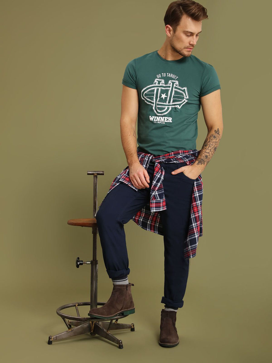 Брюки мужские Top Secret, цвет: темно-синий. SSP2485GR34J. 34J (50) брюки top secret брюки с карманами