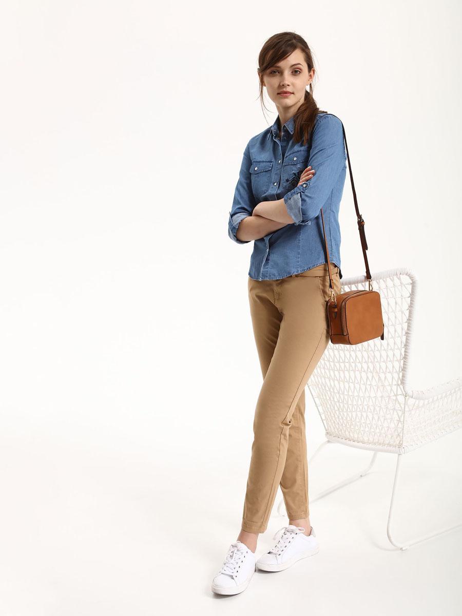 Брюки женские Top Secret, цвет: бежевый. SSP2476BE34[E]. Размер 34 (42)SSP2476BEСтильные женские брюки Top Secret - брюки высочайшего качества на каждый день, которые прекрасно сидят. Модель изготовлена из высококачественного комбинированного материала. Эти модные и в тоже время комфортные брюки послужат отличным дополнением к вашему гардеробу. В них вы всегда будете чувствовать себя уютно и комфортно.