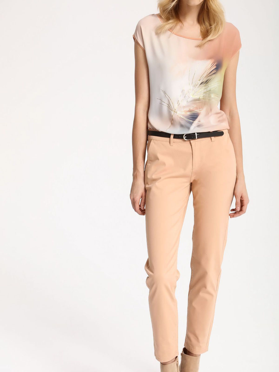 Брюки женские Top Secret, цвет: розовый. SSP2445RO42[E]. Размер 42 (50) шорты женские top secret цвет оранжевый ssz0727po размер 36 42