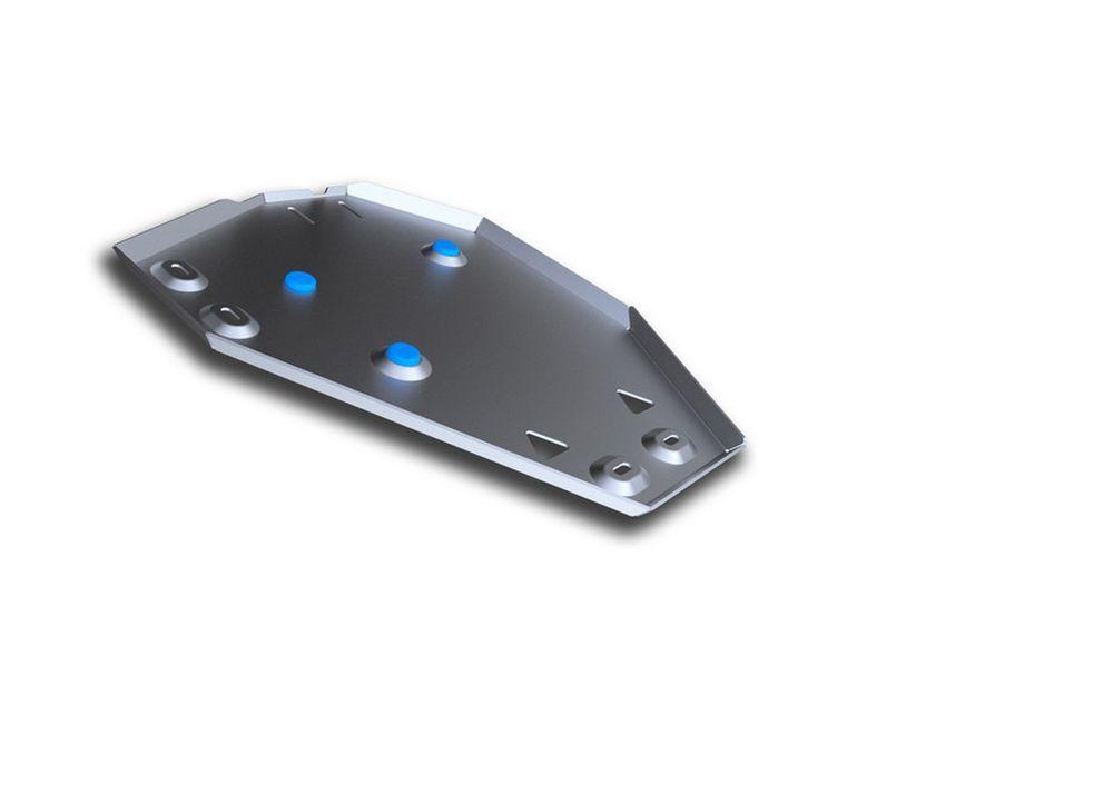 Защита топливного бака Rival, для Hyundai Santa Fe Premium, алюминий 4 мм333.2338.1Защита топливного бака для Hyundai Santa Fe Premium , V - 2,2D, 2,4i 2015-, крепеж в комплекте, алюминий 4 мм, Rival Алюминиевые защиты картера Rival надежно защищают днище вашего автомобиля от повреждений, например при наезде на бордюры, а также выполняют эстетическую функцию при установке на высокие автомобили. - Толщина алюминиевых защит в 2 раза толще стальных, а вес при этом меньше до 30%. - Отлично отводит тепло от двигателя своей поверхностью, что спасает двигатель от перегрева в летний период или при высоких нагрузках. - В отличие от стальных, алюминиевые защиты не поддаются коррозии, что гарантирует срок службы защит более 5 лет. - Покрываются порошковой краской, что надолго сохраняет первоначальный вид новой защиты и защищает от гальванической коррозии. - Глубокий штамп дополнительно усиливает конструкцию защиты. - Подштамповка в местах крепления защищает крепеж от срезания. - Технологические отверстия там, где они необходимы для смены масла и слива воды, оборудованные заглушками, надежно закрепленными на защите. Уважаемые клиенты! Обращаем ваше внимание, на тот факт, что защита имеет форму, соответствующую модели данного автомобиля. Фото служит для визуального восприятия товара.