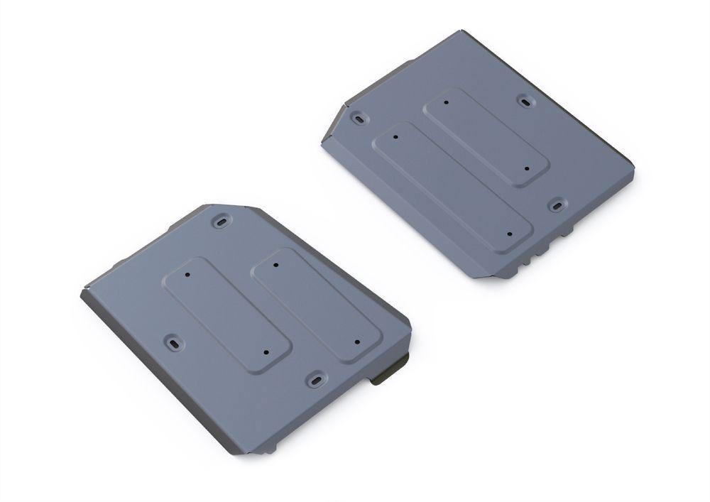 Защита топливного бака Rival, для Jeep Cherokee, алюминий 4 мм333.2729.1Защита топливного бака для Jeep Cherokee АКПП, 4WD, V - 2,4, 3,2 2014-, крепеж в комплекте, алюминий 4 мм, Rival Алюминиевые защиты картера Rival надежно защищают днище вашего автомобиля от повреждений, например при наезде на бордюры, а также выполняют эстетическую функцию при установке на высокие автомобили. - Толщина алюминиевых защит в 2 раза толще стальных, а вес при этом меньше до 30%. - Отлично отводит тепло от двигателя своей поверхностью, что спасает двигатель от перегрева в летний период или при высоких нагрузках. - В отличие от стальных, алюминиевые защиты не поддаются коррозии, что гарантирует срок службы защит более 5 лет. - Покрываются порошковой краской, что надолго сохраняет первоначальный вид новой защиты и защищает от гальванической коррозии. - Глубокий штамп дополнительно усиливает конструкцию защиты. - Подштамповка в местах крепления защищает крепеж от срезания. - Технологические отверстия там, где они необходимы для смены масла и слива воды, оборудованные заглушками, надежно закрепленными на защите. Уважаемые клиенты! Обращаем ваше внимание, на тот факт, что защита имеет форму, соответствующую модели данного автомобиля. Фото служит для визуального восприятия товара.
