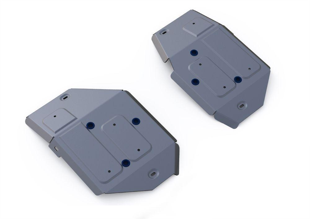 Защита топливного бака Rival, для Land Rover Range Rover Evoque, алюминий 4 мм333.3125.1Защита топливного бака для Land Rover Range Rover Evoque , V - 2,0; 2,2d 2011-, крепеж в комплекте, алюминий 4 мм, Rival Алюминиевые защиты картера Rival надежно защищают днище вашего автомобиля от повреждений, например при наезде на бордюры, а также выполняют эстетическую функцию при установке на высокие автомобили. - Толщина алюминиевых защит в 2 раза толще стальных, а вес при этом меньше до 30%. - Отлично отводит тепло от двигателя своей поверхностью, что спасает двигатель от перегрева в летний период или при высоких нагрузках. - В отличие от стальных, алюминиевые защиты не поддаются коррозии, что гарантирует срок службы защит более 5 лет. - Покрываются порошковой краской, что надолго сохраняет первоначальный вид новой защиты и защищает от гальванической коррозии. - Глубокий штамп дополнительно усиливает конструкцию защиты. - Подштамповка в местах крепления защищает крепеж от срезания. - Технологические отверстия там, где они необходимы для смены масла и слива воды, оборудованные заглушками, надежно закрепленными на защите. Уважаемые клиенты! Обращаем ваше внимание, на тот факт, что защита имеет форму, соответствующую модели данного автомобиля. Фото служит для визуального восприятия товара.