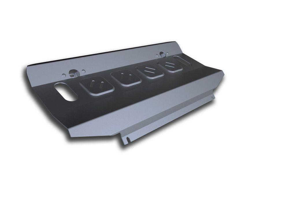 Защита радиатора Rival, для Mitsubishi Pajero Sport / Mitsubishi L200 2015-, алюминий, 4 мм333.4046.1Защита радиатора для Mitsubishi Pajero Sport , V - 3,0i 2016-/Mitsubishi L200, V - 2.4d; 2,4d H.P., 2015-, крепеж в комплекте, алюминий 4 мм, Rival Алюминиевые защиты картера Rival надежно защищают днище вашего автомобиля от повреждений, например при наезде на бордюры, а также выполняют эстетическую функцию при установке на высокие автомобили. - Толщина алюминиевых защит в 2 раза толще стальных, а вес при этом меньше до 30%. - Отлично отводит тепло от двигателя своей поверхностью, что спасает двигатель от перегрева в летний период или при высоких нагрузках. - В отличие от стальных, алюминиевые защиты не поддаются коррозии, что гарантирует срок службы защит более 5 лет. - Покрываются порошковой краской, что надолго сохраняет первоначальный вид новой защиты и защищает от гальванической коррозии. - Глубокий штамп дополнительно усиливает конструкцию защиты. - Подштамповка в местах крепления защищает крепеж от срезания. - Технологические отверстия там, где они необходимы для смены масла и слива воды, оборудованные заглушками, надежно закрепленными на защите. Уважаемые клиенты! Обращаем ваше внимание, на тот факт, что защита имеет форму, соответствующую модели данного автомобиля. Фото служит для визуального восприятия товара.