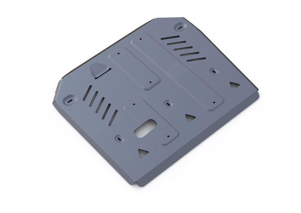 Защита КПП и РК Rival, для Porsche Cayenne, алюминий 4 мм333.4607.1Защита КПП и РК для Porsche Cayenne , V - 3,0TD; 4,1TD; 4,8T (Выводим) 2014-, крепеж в комплекте, алюминий 4 мм, Rival Алюминиевые защиты картера Rival надежно защищают днище вашего автомобиля от повреждений, например при наезде на бордюры, а также выполняют эстетическую функцию при установке на высокие автомобили. - Толщина алюминиевых защит в 2 раза толще стальных, а вес при этом меньше до 30%. - Отлично отводит тепло от двигателя своей поверхностью, что спасает двигатель от перегрева в летний период или при высоких нагрузках. - В отличие от стальных, алюминиевые защиты не поддаются коррозии, что гарантирует срок службы защит более 5 лет. - Покрываются порошковой краской, что надолго сохраняет первоначальный вид новой защиты и защищает от гальванической коррозии. - Глубокий штамп дополнительно усиливает конструкцию защиты. - Подштамповка в местах крепления защищает крепеж от срезания. - Технологические отверстия там, где они необходимы для смены масла и слива воды, оборудованные заглушками, надежно закрепленными на защите. Уважаемые клиенты! Обращаем ваше внимание, на тот факт, что защита имеет форму, соответствующую модели данного автомобиля. Фото служит для визуального восприятия товара.