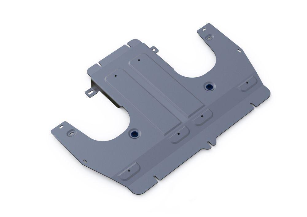 Защита КПП Rival, для Porsche Panamera, алюминий 4 мм333.4609.1Защита КПП для Porsche Panamera 4WD, V-3,0 2009-, крепеж в комплекте, алюминий 4 мм, Rival Алюминиевые защиты картера Rival надежно защищают днище вашего автомобиля от повреждений, например при наезде на бордюры, а также выполняют эстетическую функцию при установке на высокие автомобили. - Толщина алюминиевых защит в 2 раза толще стальных, а вес при этом меньше до 30%. - Отлично отводит тепло от двигателя своей поверхностью, что спасает двигатель от перегрева в летний период или при высоких нагрузках. - В отличие от стальных, алюминиевые защиты не поддаются коррозии, что гарантирует срок службы защит более 5 лет. - Покрываются порошковой краской, что надолго сохраняет первоначальный вид новой защиты и защищает от гальванической коррозии. - Глубокий штамп дополнительно усиливает конструкцию защиты. - Подштамповка в местах крепления защищает крепеж от срезания. - Технологические отверстия там, где они необходимы для смены масла и слива воды, оборудованные заглушками, надежно закрепленными на защите. Уважаемые клиенты! Обращаем ваше внимание, на тот факт, что защита имеет форму, соответствующую модели данного автомобиля. Фото служит для визуального восприятия товара.