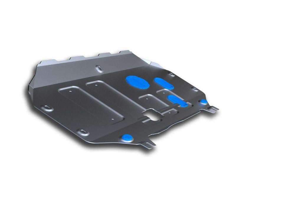 Защита картера и КПП Rival, для Nissan Terrano, алюминий 4 мм333.4702.1Защита картера и КПП для Nissan Terrano, V - 1,6: 2,0, 1,5dCI 2014-2016, крепеж в комплекте, алюминий 4 мм, Rival Алюминиевые защиты картера Rival надежно защищают днище вашего автомобиля от повреждений, например при наезде на бордюры, а также выполняют эстетическую функцию при установке на высокие автомобили. - Толщина алюминиевых защит в 2 раза толще стальных, а вес при этом меньше до 30%. - Отлично отводит тепло от двигателя своей поверхностью, что спасает двигатель от перегрева в летний период или при высоких нагрузках. - В отличие от стальных, алюминиевые защиты не поддаются коррозии, что гарантирует срок службы защит более 5 лет. - Покрываются порошковой краской, что надолго сохраняет первоначальный вид новой защиты и защищает от гальванической коррозии. - Глубокий штамп дополнительно усиливает конструкцию защиты. - Подштамповка в местах крепления защищает крепеж от срезания. - Технологические отверстия там, где они необходимы для смены масла и слива воды, оборудованные заглушками, надежно закрепленными на защите. Уважаемые клиенты! Обращаем ваше внимание, на тот факт, что защита имеет форму, соответствующую модели данного автомобиля. Фото служит для визуального восприятия товара.