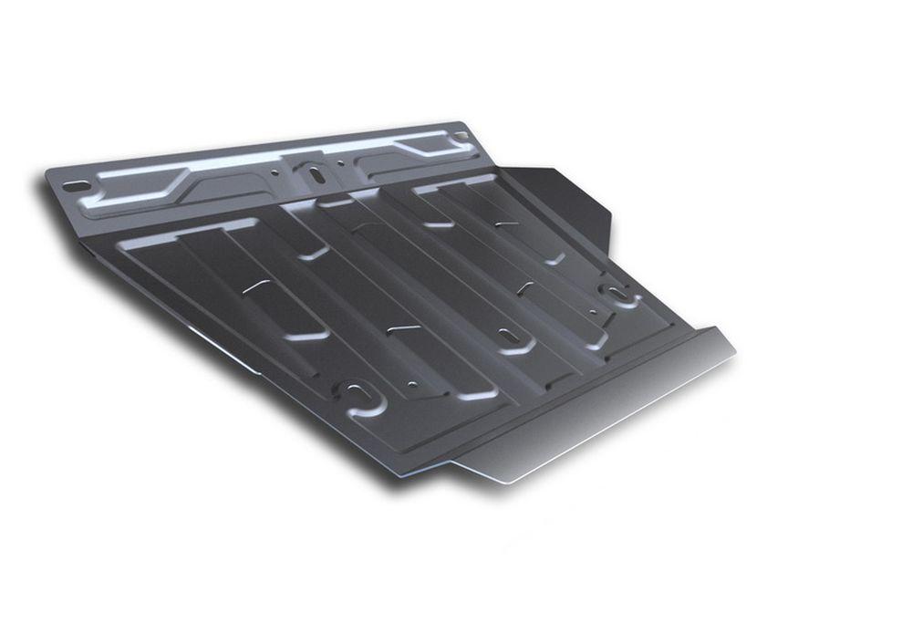 Защита картера Rival, для Lexus LX 450d, Lexus LX 570, Toyota LC200, 1 часть, алюминий 4 мм333.5713.2Защита картера часть 1 для Lexus LX 450d , V - 4,5TD 2015-; Lexus LX 570 , V - 5,7 2008-2015 2015-; Toyota LC200 , V - 4,5TD, 4,6, 4,7 2007-2015 2015-, крепеж в комплекте, алюминий 4 мм, Rival Алюминиевые защиты картера Rival надежно защищают днище вашего автомобиля от повреждений, например при наезде на бордюры, а также выполняют эстетическую функцию при установке на высокие автомобили. - Толщина алюминиевых защит в 2 раза толще стальных, а вес при этом меньше до 30%. - Отлично отводит тепло от двигателя своей поверхностью, что спасает двигатель от перегрева в летний период или при высоких нагрузках. - В отличие от стальных, алюминиевые защиты не поддаются коррозии, что гарантирует срок службы защит более 5 лет. - Покрываются порошковой краской, что надолго сохраняет первоначальный вид новой защиты и защищает от гальванической коррозии. - Глубокий штамп дополнительно усиливает конструкцию защиты. - Подштамповка в местах крепления защищает крепеж от срезания. - Технологические отверстия там, где они необходимы для смены масла и слива воды, оборудованные заглушками, надежно закрепленными на защите. Уважаемые клиенты! Обращаем ваше внимание, на тот факт, что защита имеет форму, соответствующую модели данного автомобиля. Фото служит для визуального восприятия товара.