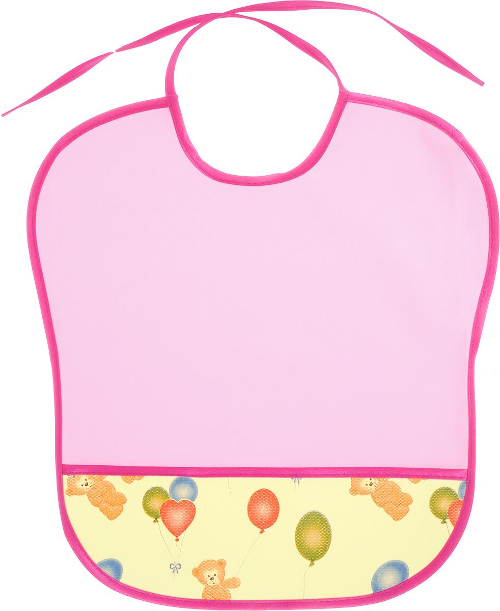 Колорит Нагрудник с карманом Мишки цвет розовый малиновый 33 х 33 см колорит нагрудник с карманом цвет желтый оранжевый 33 см х 33 см