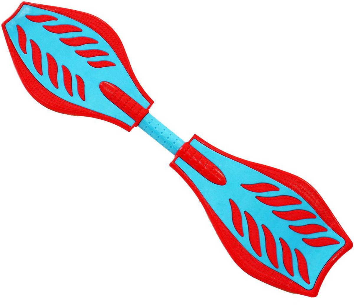 Роллерсерф Waveboard Bright, цвет: красный, голубой2224Роллерсерф Waveboard Bright - это уникальный скейтборд на двух колесах. Полиуретановые колеса на высокоскоростных подшипниках позволяют быстро разогнаться и катиться долгое время без остановок. Подшипники крутятся легко и без усилий. Колеса скейтборда выполнены из прочного полиуретана и вращаются на 360°. Легкая и прочная пластиковая платформа со специальным противоскользящим покрытием состоит из двух частей, прочно соединенных торсионной пружиной. Выдерживает вес: до 70 кг.