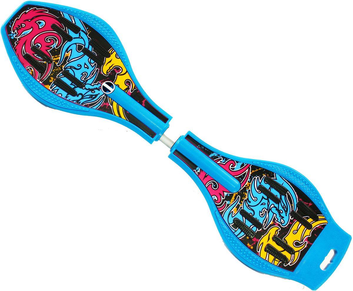 Роллерсерф Dragon Board Totem, цвет: голубой, желтый, черныйво2227Роллерсерф Dragon Board Totem - это уникальный скейтборд на двух колесах. Полиуретановые колеса на высокоскоростных подшипниках позволяют быстро разогнаться и катиться долгое время без остановок. Подшипники крутятся легко и без усилий. Колеса скейтборда выполнены из прочного полиуретана и вращаются на 360°. Легкая и прочная пластиковая платформа со специальным противоскользящим покрытием состоит из двух частей, прочно соединенных торсионной пружиной. Выдерживает вес: до 70 кг.
