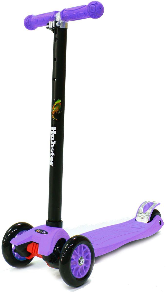 Самокат трехколесный Hubster Maxi, цвет: фиолетовыйво2249Самокат Hubster Maxi предназначен для детей от 3 лет. Катание на складном самокате является не только приятным времяпровождением, но и полезным. Благодаря ему малыш становится более крепким, ловким и выносливым. Самокат очень прост в использовании, наклоняя рулевую стойку в ту или иную сторону колеса автоматически поворачиваются в ту же сторону, поэтому ребенок освоит самокат достаточно быстро. Высота руля от пола мин/макс: 65/89см.Ширина руля: 25 см.Ширина деки: 11 см.Длина деки: 39 см.Размер колес: 120 мм.Максимальная нагрузка: 60 кг.Подшипники: ABEC7. Вес: 2,4 кг.