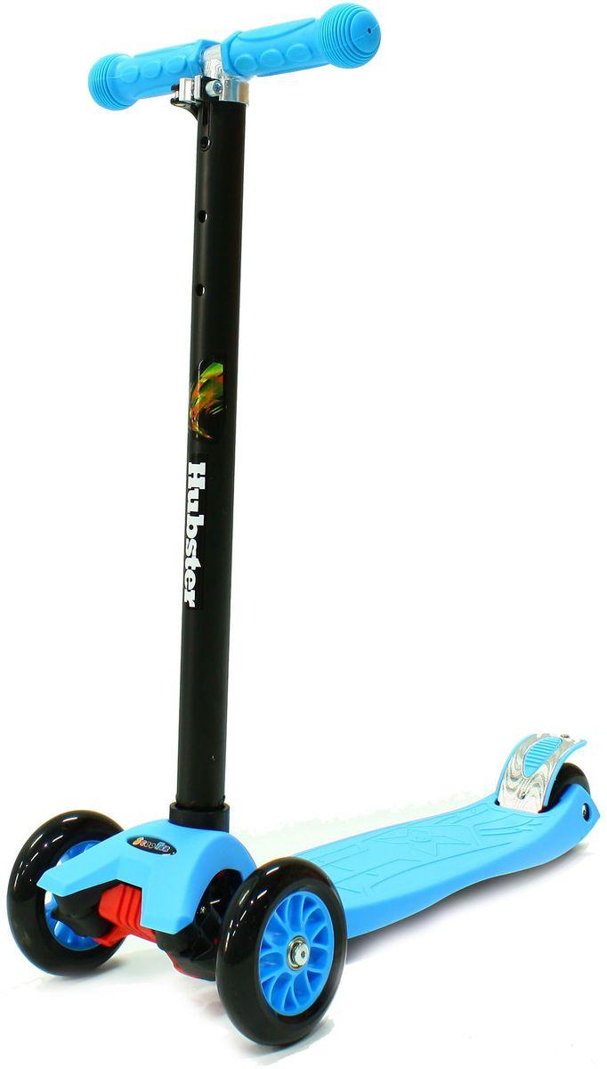 Самокат детский Hubster Maxi, трехколесный, цвет: голубой, черный самокат trolo maxi 2017 регулируемый по высоте руль черный красный tmx140318
