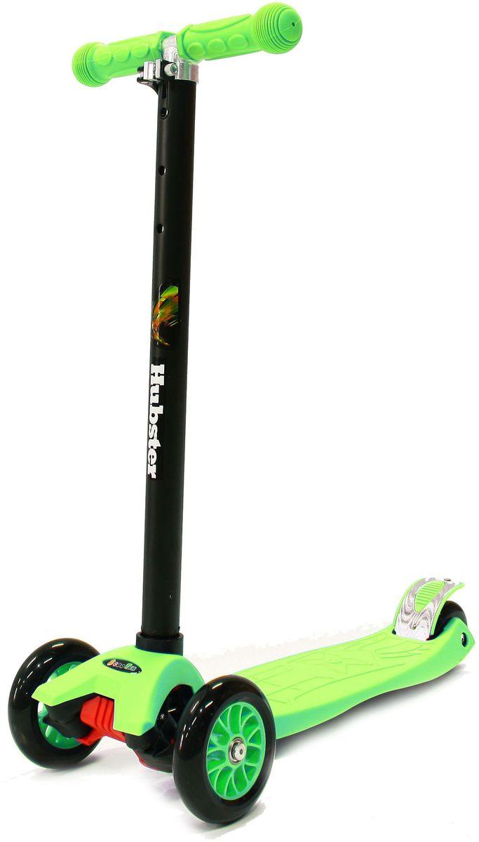 """Самокат трехколесный Hubster """"Maxi"""", цвет: зеленый"""