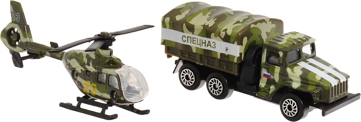 ТехноПарк Набор машинок Военная техника 2 шт SB-15-09-WB технопарк технопарк спецназ