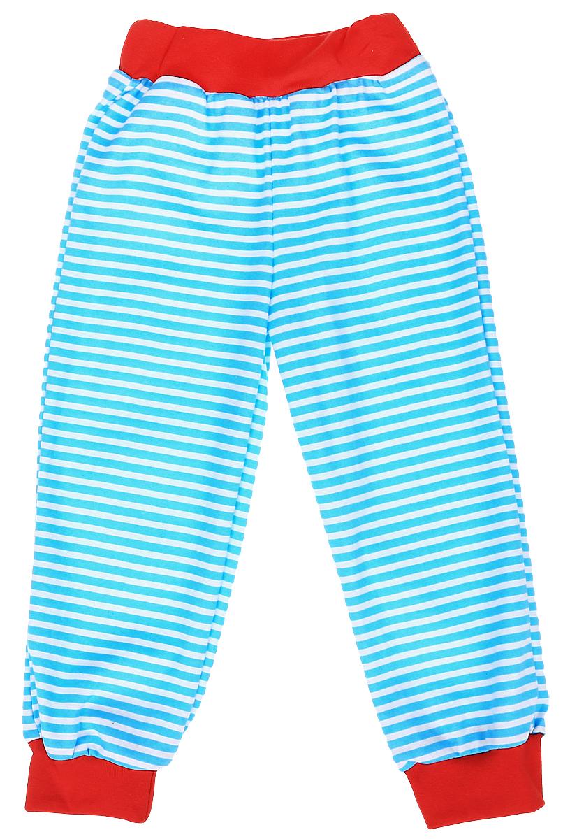Штанишки на широком поясе для мальчика КотМарКот, цвет: голубой, белый, красный. 3561. Размер 62, 1-3 месяца брюки котмаркот штанишки сердечко