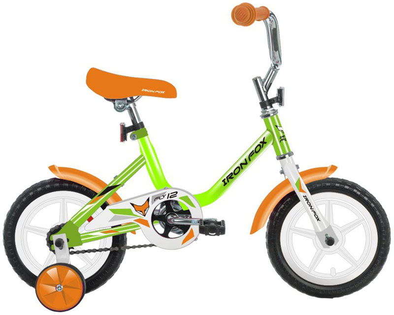 Велосипед детский Iron Fox Fly 12, цвет: зеленый342903Велосипед детский Iron Fox Fly 12 для детей дошкольного и младшего школьного возраста станет отличным приобретением для вашего малыша. Модель рассчитана для езды на дорогах с покрытием и грунтовых дорогах в разрешенных для детских игр местах. Велосипед имеет комфортную посадку для прогулок по городу и за его пределами, благодаря широкому сиденью и эргономичной конструкции рамы, специально разработанной для комфортной прогулки. Цепь защищена специальной накладкой, покрышки обеспечивают хорошее сцепление с дорогой, протекторы исключают риск скольжения. Он также оборудован дополнительными съемными боковыми колесами, которые позволят ребенку удерживать равновесие, и придадут уверенности в поездках. Велосипед оборудован комплектом крыльев, для защиты от грязи и двумя отражателями, имитирующими фары. Рама: сталь. Вилка: жесткая, сталь. Количество скоростей: 1. Размер колес: 12. Резина: полимерные 12 x 1,5. Обода: пластиковые. Тормоза: втулочные, ножные.Какой велосипед выбрать? Статья OZON Гид