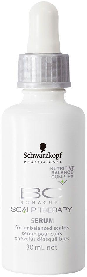 Bonacure Сыворотка для чувствительной кожи головы Scalp Therapy Sensitive Scalp Scalp Serum 30 мл32371AСыворотка для раслабляющего массажа для кожи головы нуждающейся в смягчении и защите. Высококонцентрированный комплекс Nutritive-Balance содержит аллантоин, который помогает успокоить кожу головы, укрепляющий хитозан, витамин Е, чтобы противостоять воздействию свободных радикалов и защитить кожу головы от внешних агрессивных воздействий, а также получаемый из ромашки бисаболол, который снимает раздражение. Для достижения максимального результата рекомендуется использова в комплексе с шампунем BC Scalp Therapy Sensitive