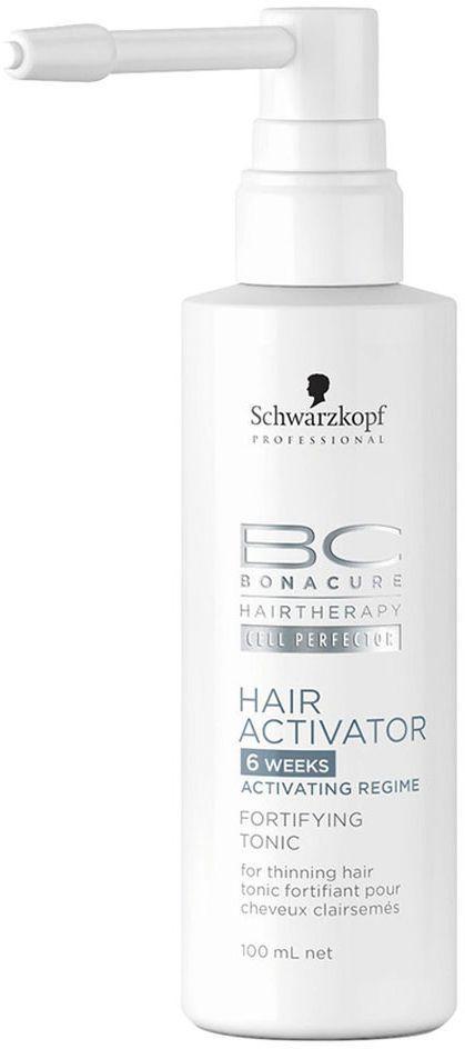 Bonacure Тоник, поддерживающий рост волос Hair Activator Tonic 100 мл1800483Активирующий тоник для редеющих волос. Формула с пантенолом восстанавливает баланс влаги, питает волосяные луковицы предотвращая выпадение волос. Для достижения максимального результата рекомендуется исользовать в комплексе с шампунем и сывороткой BC Hair Activator