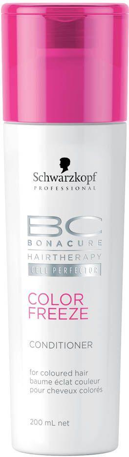 Bonacure Кондиционер Сияние Цвета Color Freeze Conditioner 200 мл2065440Кондиционер для окрашенных волос с формулой контроль цвета. Укрепляет структуру волос и удерживает оптимальный уровень pH 4.5, снижая потерю яркости цвета до 0. Усиливает сияние окрашенных волос, устраняет пушистость и разглаживает поверхность волоса. Рекомендуется использовать в комплексе с шампунем BC COLOR FREEZE
