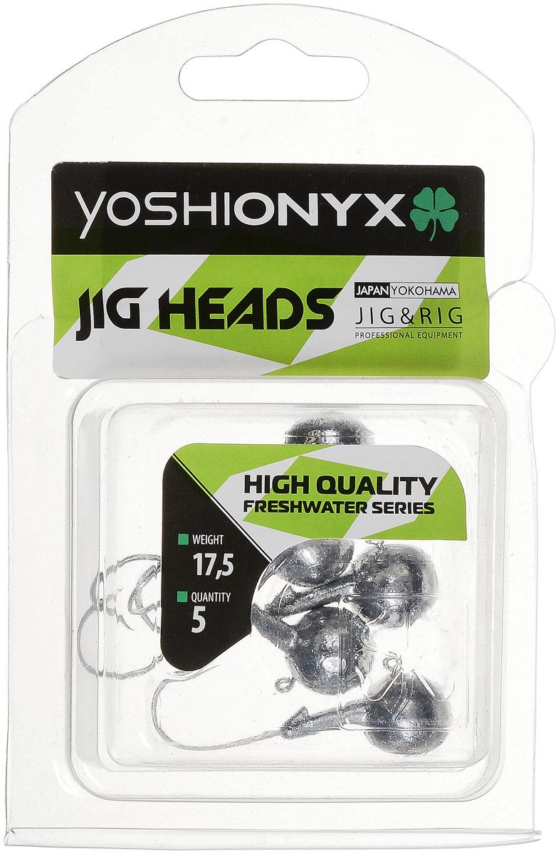 Джиг-головка Yoshi Onyx JIG Bros. Шар 1, крючок Gamakatsu, 17,5 г, 5 шт