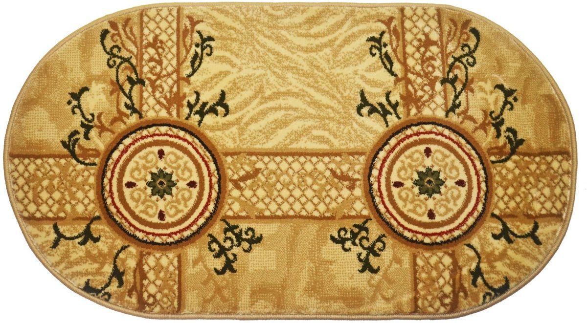 Ковер Kamalak Tekstil, 60 х 110 см. УК-0533УК-0533Ковер Kamalak Tekstil изготовлен из прочного синтетического материала heat-set, улучшенного варианта полипропилена (эта нить получается в результате его дополнительной обработки). Полипропилен износостоек, нетоксичен, не впитывает влагу, не провоцирует аллергию. Структура волокна в полипропиленовых коврах гладкая, поэтому грязь не будет въедаться и скапливаться на ворсе. Практичный и износоустойчивый ворс не истирается и не накапливает статическое электричество. Ковер обладает хорошими показателями теплостойкости и шумоизоляции. Оригинальный рисунок позволит гармонично оформить интерьер комнаты, гостиной или прихожей. За счет невысокого ворса ковер легко чистить. При надлежащем уходе синтетический ковер прослужит долго, не утратив ни яркости узора, ни блеска ворса, ни упругости. Самый простой способ избавить изделие от грязи - пропылесосить его с обеих сторон (лицевой и изнаночной). Влажная уборка с применением шампуней и моющих средств не противопоказана. Хранить рекомендуется в свернутом рулоном виде.