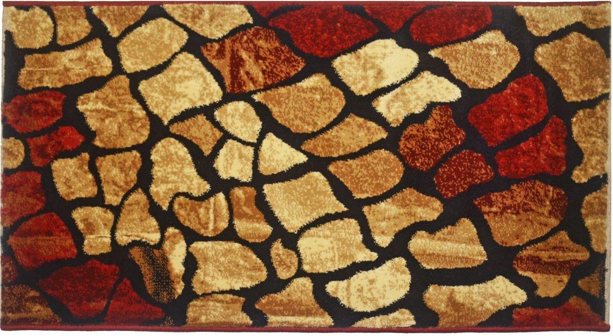 Ковер Kamalak Tekstil, 80 х 150 см. УК-0536УК-0536Ковер Kamalak Tekstil изготовлен из прочного синтетического материала heat-set, улучшенного варианта полипропилена (эта нить получается в результате его дополнительной обработки). Полипропилен износостоек, нетоксичен, не впитывает влагу, не провоцирует аллергию. Структура волокна в полипропиленовых коврах гладкая, поэтому грязь не будет въедаться и скапливаться на ворсе. Практичный и износоустойчивый ворс не истирается и не накапливает статическое электричество. Ковер обладает хорошими показателями теплостойкости и шумоизоляции. Оригинальный рисунок позволит гармонично оформить интерьер комнаты, гостиной или прихожей. За счет невысокого ворса ковер легко чистить. При надлежащем уходе синтетический ковер прослужит долго, не утратив ни яркости узора, ни блеска ворса, ни упругости. Самый простой способ избавить изделие от грязи - пропылесосить его с обеих сторон (лицевой и изнаночной). Влажная уборка с применением шампуней и моющих средств не противопоказана. Хранить рекомендуется в свернутом рулоном виде.