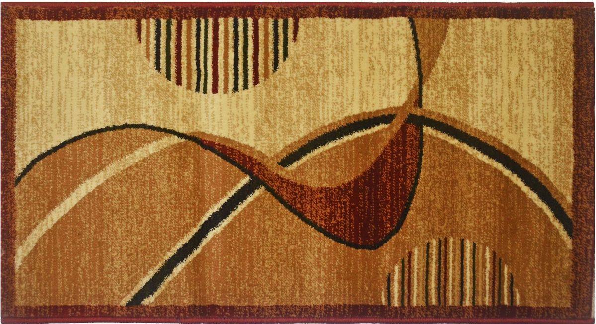 Ковер Kamalak Tekstil, 100 х 150 см. УК-0538УК-0538Ковер Kamalak Tekstil изготовлен из прочного синтетического материала heat-set, улучшенного варианта полипропилена (эта нить получается в результате его дополнительной обработки). Полипропилен износостоек, нетоксичен, не впитывает влагу, не провоцирует аллергию. Структура волокна в полипропиленовых коврах гладкая, поэтому грязь не будет въедаться и скапливаться на ворсе. Практичный и износоустойчивый ворс не истирается и не накапливает статическое электричество. Ковер обладает хорошими показателями теплостойкости и шумоизоляции. Оригинальный рисунок позволит гармонично оформить интерьер комнаты, гостиной или прихожей. За счет невысокого ворса ковер легко чистить. При надлежащем уходе синтетический ковер прослужит долго, не утратив ни яркости узора, ни блеска ворса, ни упругости. Самый простой способ избавить изделие от грязи - пропылесосить его с обеих сторон (лицевой и изнаночной). Влажная уборка с применением шампуней и моющих средств не противопоказана. Хранить рекомендуется в свернутом рулоном виде.