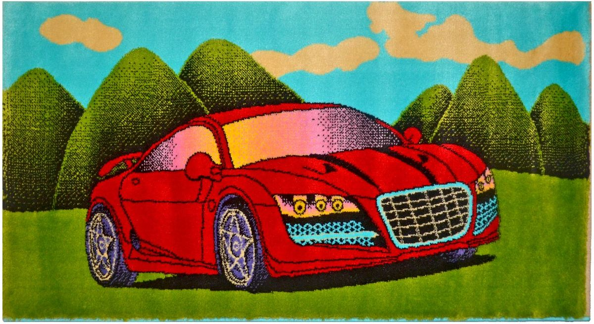 Ковер детский Kamalak Tekstil Красная машинка, 60 х 110 смУКД-2069Детский ковер Kamalak Tekstil изготовлен из высококачественного полипропилена.Полипропилен износостоек, нетоксичен, не впитывает влагу, не провоцирует аллергию. Структура волокна в полипропиленовых коврах гладкая, поэтому грязь не будет въедаться и скапливаться на ворсе. Практичный и износоустойчивый ворс не истирается и не накапливает статическое электричество. Ковер обладает хорошими показателями теплостойкости и шумоизоляции. Оригинальный рисунок позволит гармонично оформить интерьер детской комнаты. За счет невысокого ворса ковер легко чистить. При надлежащем уходе синтетический ковер прослужит долго, не утратив ни яркости узора, ни блеска ворса, ни упругости. Самый простой способ избавить изделие от грязи - пропылесосить его с обеих сторон (лицевой и изнаночной). Влажная уборка с применением шампуней и моющих средств не противопоказана. Хранить рекомендуется в свернутом рулоном виде.