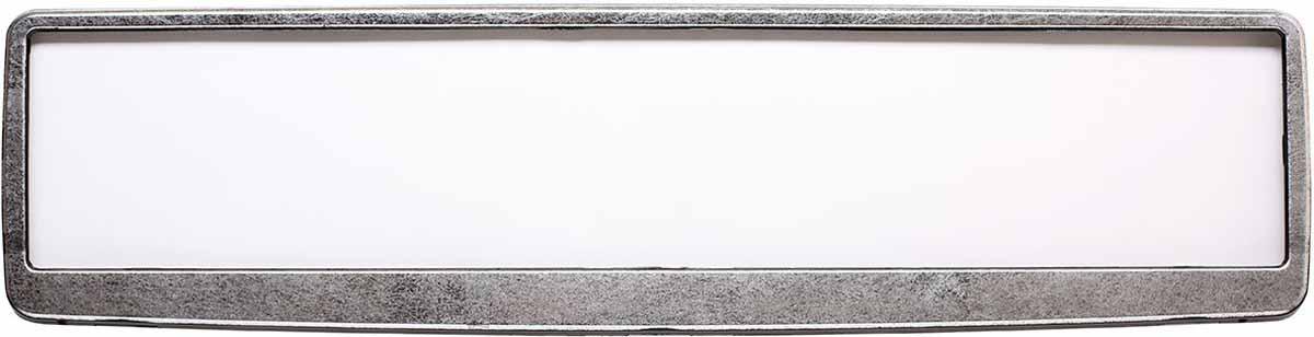 Рамка для номера Концерн Знак Винтаж, цвет: черный, сереброЗ0000015500Рамка для номера Концерн Знак предназначена для крепления государственного регистрационного знака. Материал основания выполнен изполипропилена, материал лицевой панели из ABS-пластика.