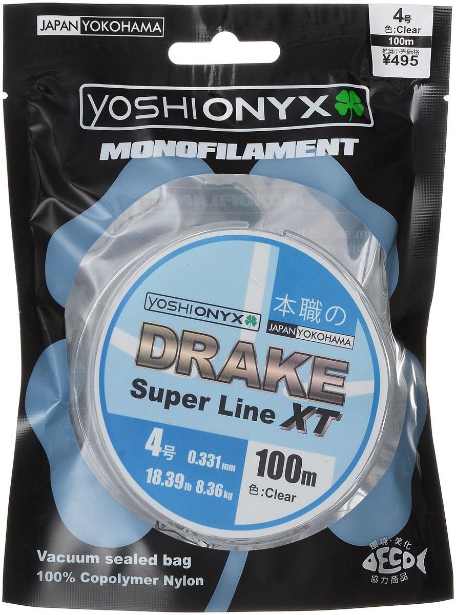 Леска Yoshi Onyx Drake Super Line XT, цвет: прозрачный, 100 м, 0,331 мм, 8,36 кг