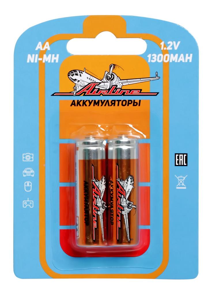 Батарейки Airline, AA HR6 аккумулятор Ni-Mh 1300 mAh, 2 шт аккумулятор aa robiton 2850 mah ni mh 2 штуки