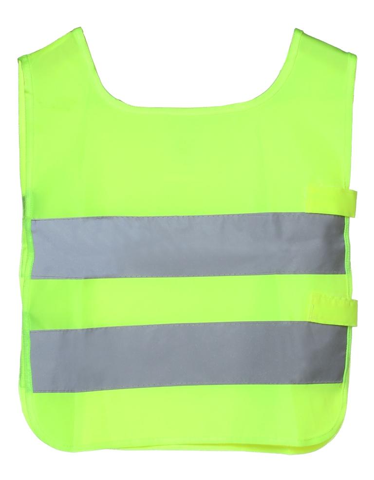 Жилет детский Airline, со светоотражающими полосами, цвет: желтыйARW-CV-01Светоотражающий жилет для детей Airline поможет обезопасить ребенка в темное время суток, а также на затемненной местности. Он имеет универсальный размер и яркий цвет. На поверхность жилета нанесены две широкие горизонтально расположенные светоотражающие полосы. Состав из полиэфира позволяет легко очищать изделие от загрязнений, а также обеспечивает долгий срок службы жилета.Преимущества:Износоустойчивый материал.Легко чистятся.Универсальный размер.Высокие светоотражающие свойства.Размер: универсальный, 41 х 36 см.Российский размер: 26-30.