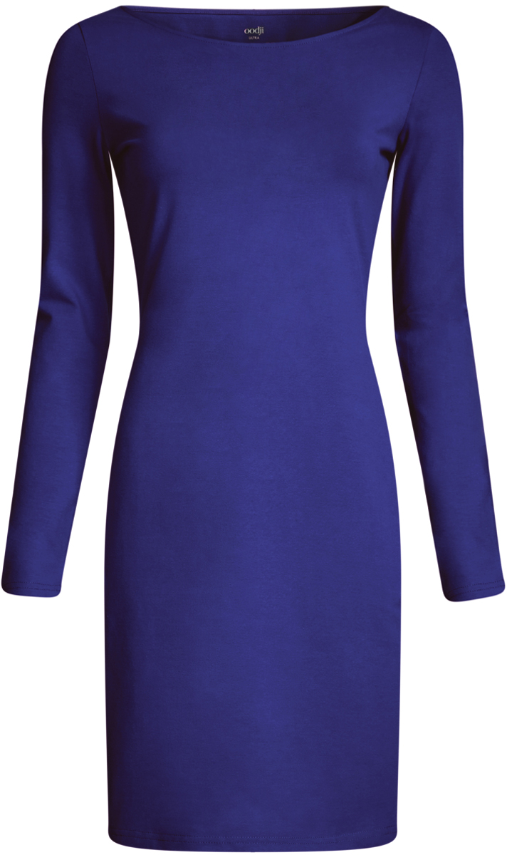 Платье oodji Ultra, цвет: синий. 14001183B/46148/7500N. Размер S (44-170) пуловеры oodji пуловер