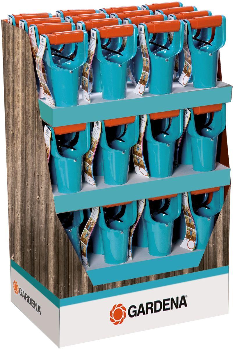 Сажалка Gardena, для луковичных растений03039-20.000.00Сажалка Gardena выкапывает лунки точно по размеру луковицы. Удобна в применении благодаря устройству, позволяющему вынимать грунт и высыпать его обратно. Имеет шкалу глубины посадки. Изготовлена из высококачественной стали.