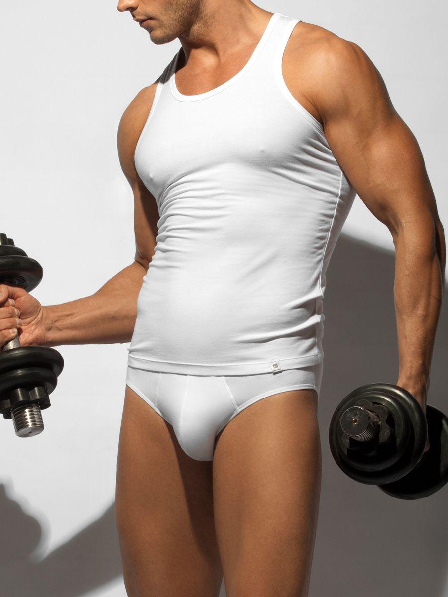 цена на Майка-борцовка мужская Charmante, цвет: белый. ISMB 671608A. Размер XL (52)