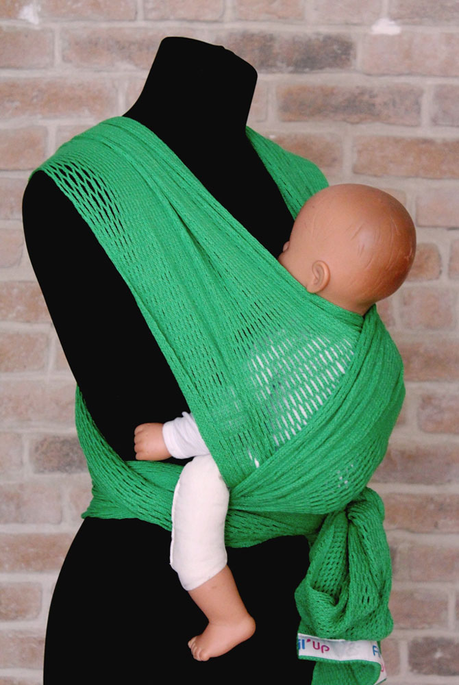 Filt Слинг-шарф Fil'Up цвет зеленый Размер S-M - Рюкзаки, слинги, кенгуру