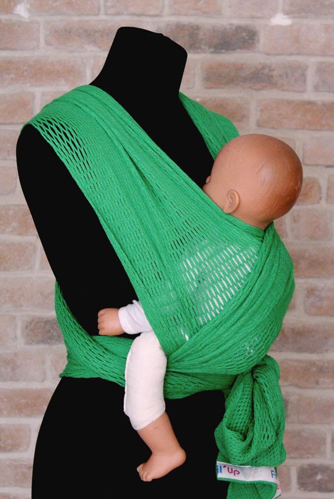 Filt Слинг-шарф Fil'Up цвет зеленый Размер L-XL - Рюкзаки, слинги, кенгуру