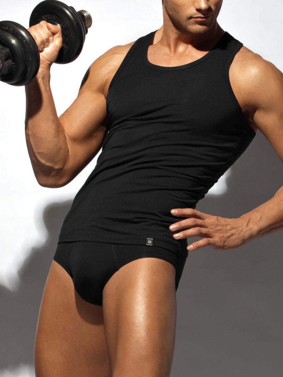 Майка-борцовка мужская Charmante, цвет: черный. ISMB 671608B. Размер XL (52)