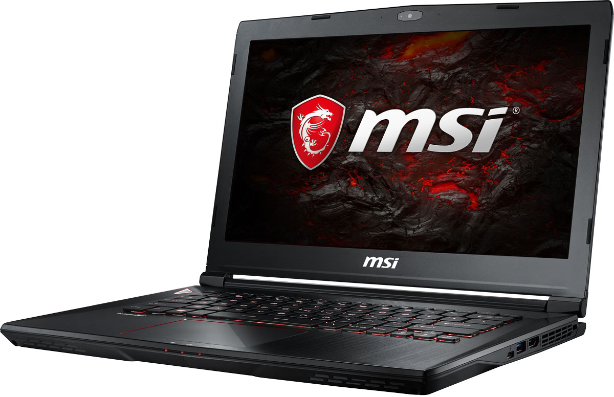 MSI GS43VR 7RE-094RU Phantom Pro, Black ноутбук msi phantom pro 094ru gs43vr 7re core i5 7300hq 2 5ghz 14 16gb 1tb gtx1060 w10h64 9s7 14a332 094
