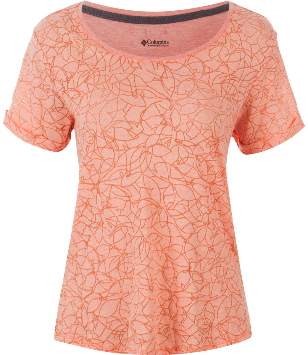 Футболка женская Columbia Sandy River Tee T-shirt, цвет: оранжевый. 1712031-867. Размер XS (42) платки seanna платок шифон морозный узор