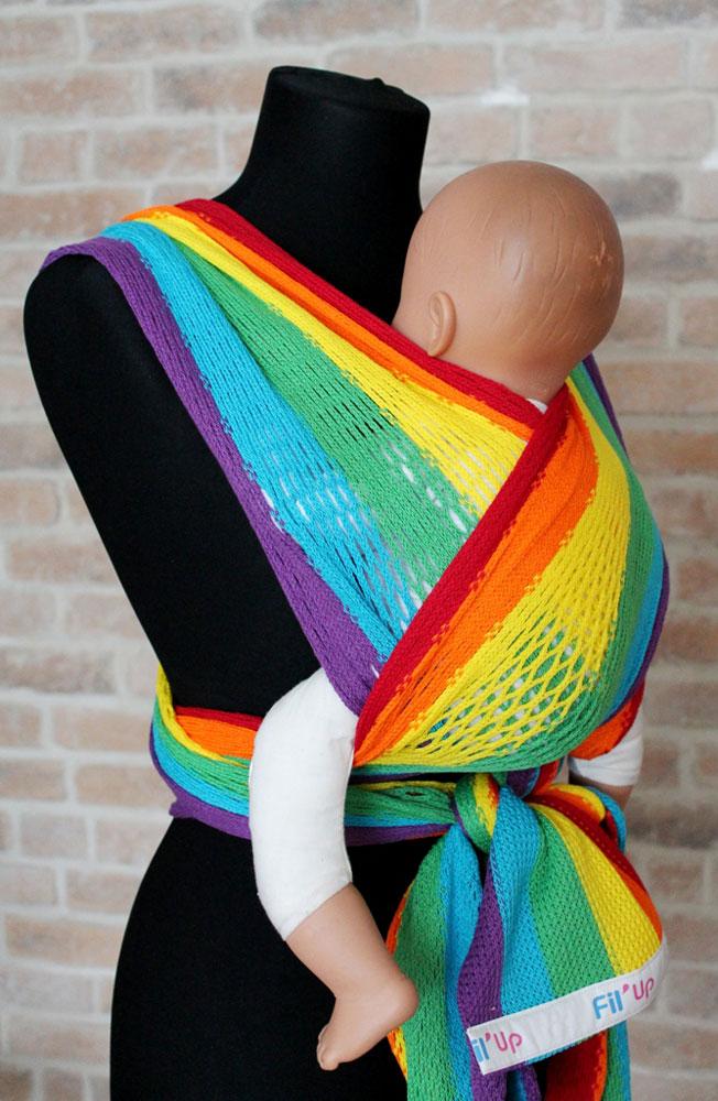 Filt Слинг-шарф Fil'Up Rainbow размер S-M - Рюкзаки, слинги, кенгуру